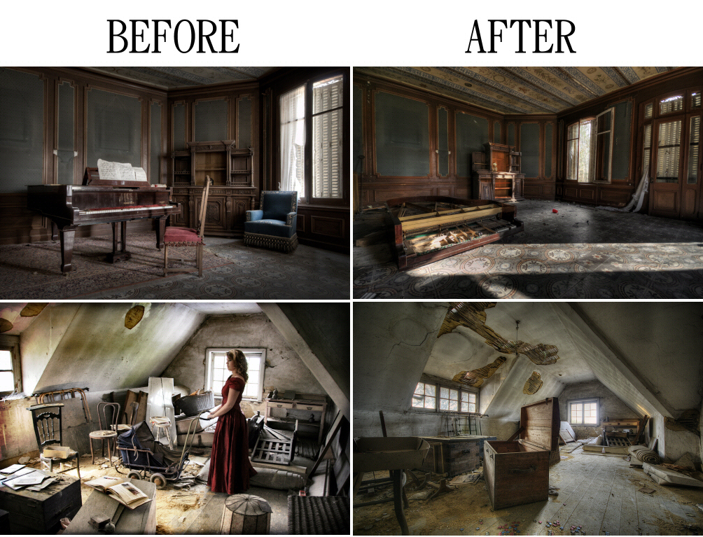 Before and after…